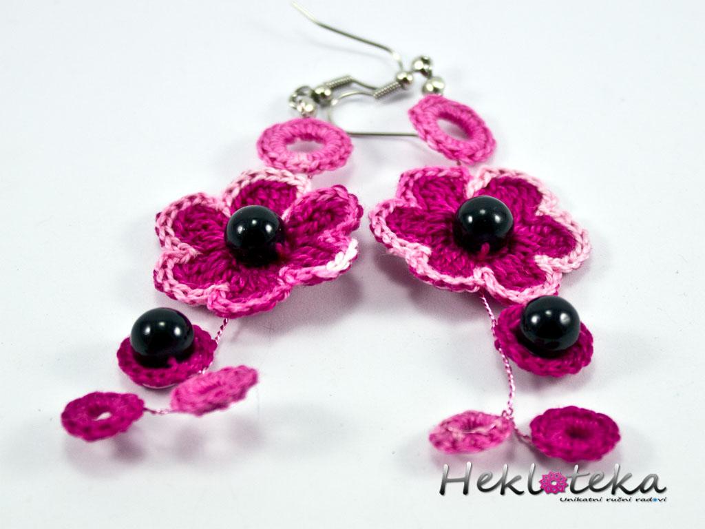 Earrings / Minđuše : Pink grape earrings