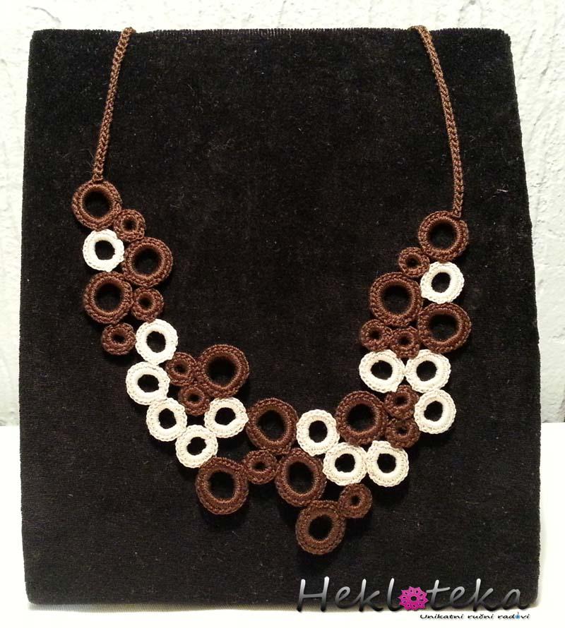 Ogrlice : Heklana ogrlica kružići grozd