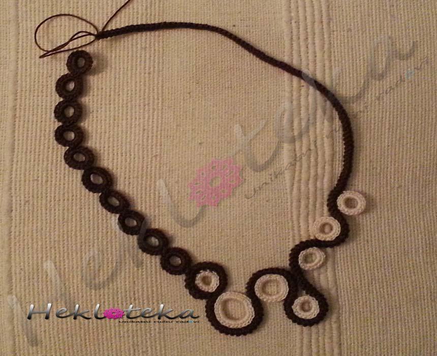 Heklana ogrlica kružići