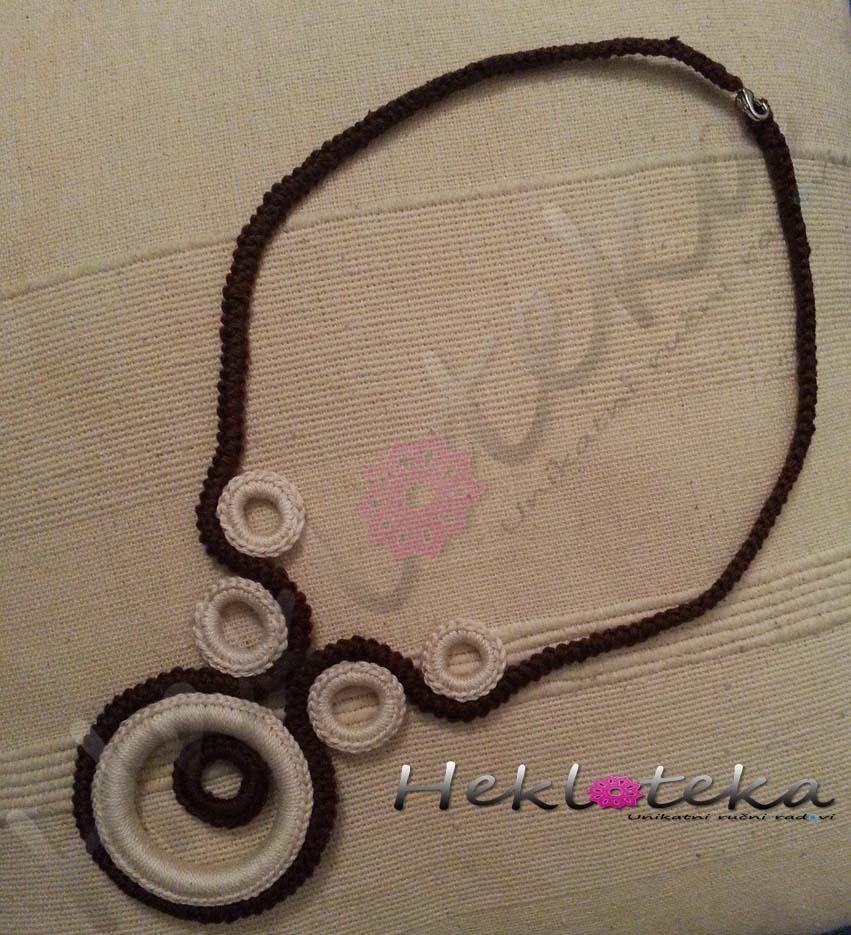 Ogrlice : Heklana ogrlica krugovi