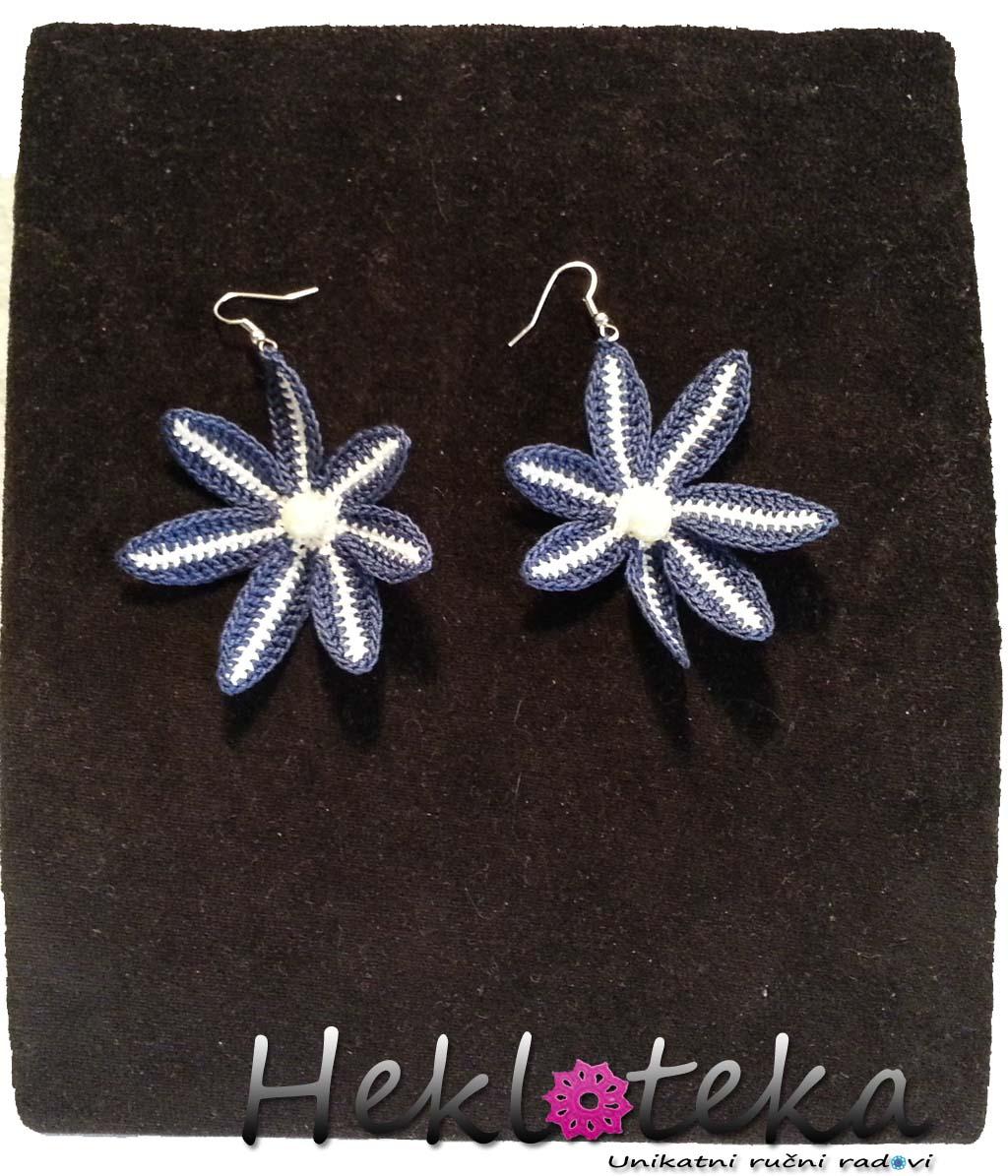 Earrings / Minđuše : Heklane minđjuše Zvezdice