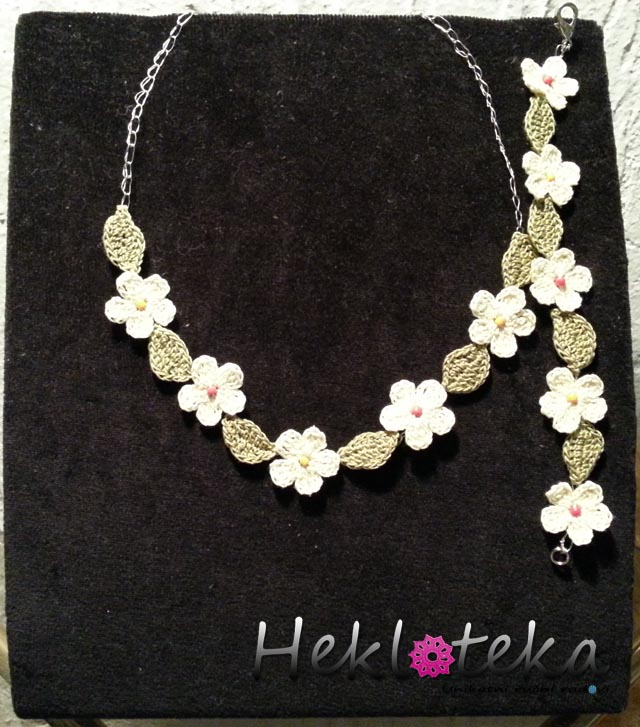 Jewelry sets : Heklani komplet Green