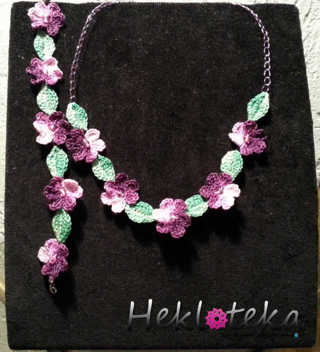 Heklani komplet Purple