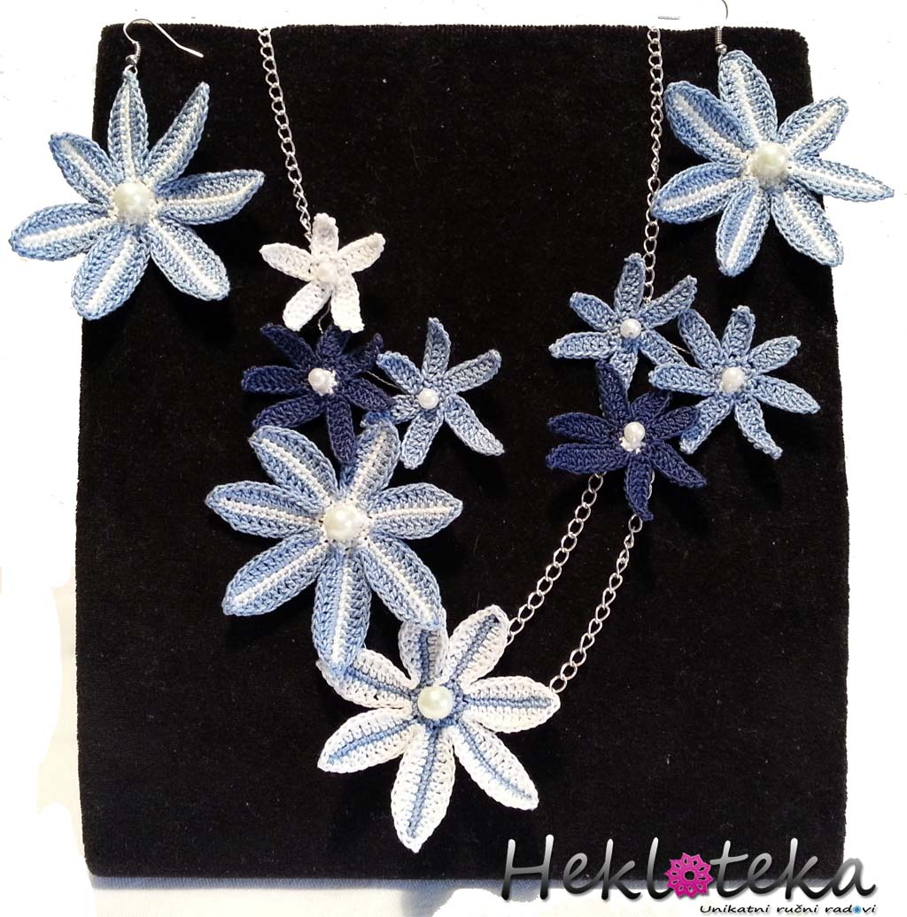 Jewelry sets : Heklani komplet Zvezdice