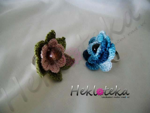 Prstenje : Heklani Prsten 027