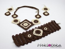 Crochet set chocolate