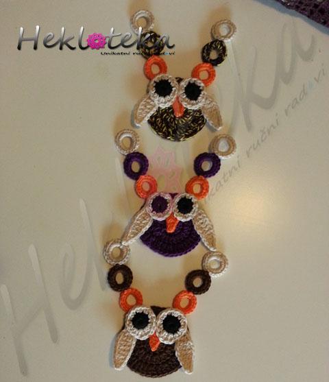 Heklana ogrlica SOVA 3